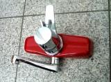 Egro Wandarmatur Küchenarmatur Spültischarmatur Chrom Rot