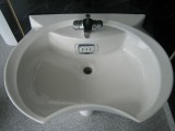 POZZI-GINORI Design Waschbecken Waschtisch Weiss 74x54 cm