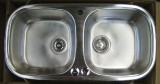 RIEBER Soft/2 double bowl kitchen sink stainless steel