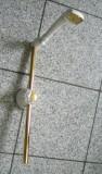 Damixa Brausekombination Brausestange Handbrause Weiss/Gold