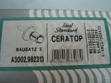 IDEAL STANDARD Ceratop Bausatz 2 Wandeinbauventil A3002.982313 Weiss Gold