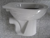 Keramag Delta Fondo Stand-WC Abfluss zur Wand Manhattan Grau