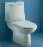 CERAMICA DOLOMITE Clodia Stand-WC-Kombination WEISS